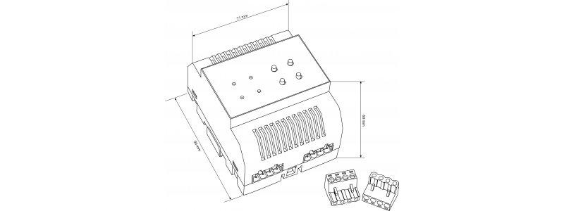 BALTER Signalverstärker, 2-Draht BUS Technologie, Reichweitenverstärkung bis 480m